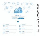 contact us concept with thin... | Shutterstock .eps vector #780098209