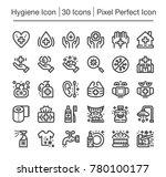 hygiene line icon editable... | Shutterstock .eps vector #780100177