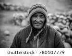 nomad's smile   the life of a... | Shutterstock . vector #780107779