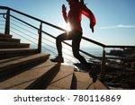 sporty fitness female runner... | Shutterstock . vector #780116869