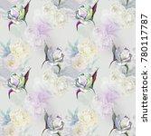 white roses on light summer...   Shutterstock . vector #780117787