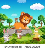 lion in the forest   Shutterstock .eps vector #780120205