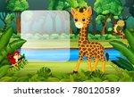 giraffe in the forest   Shutterstock .eps vector #780120589