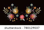 embroidery design with... | Shutterstock .eps vector #780129037