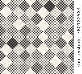modern stylish halftone texture.... | Shutterstock .eps vector #780132934