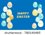 happy easter greeting card.... | Shutterstock .eps vector #780140485