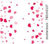 pink hearts random falling on... | Shutterstock .eps vector #780143137