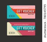 gift voucher 100 discount sale... | Shutterstock .eps vector #780145795