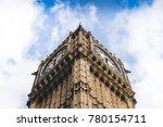 Big Ben Clock With Blue Sky An...