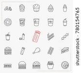 fast food line icons set | Shutterstock .eps vector #780154765