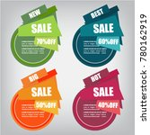 web sale banner | Shutterstock .eps vector #780162919