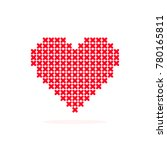 vector illustration of a heart... | Shutterstock .eps vector #780165811