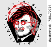 modern portrait of composer and ... | Shutterstock .eps vector #780170734