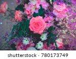 pink rose for background  ... | Shutterstock . vector #780173749