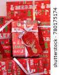 christmas gifts boxes.... | Shutterstock . vector #780175174