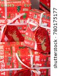 christmas gifts boxes.... | Shutterstock . vector #780175177