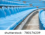 empty rows with blue seats on a ... | Shutterstock . vector #780176239