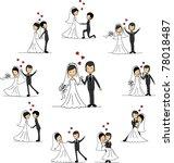 wedding cartoon characters  ... | Shutterstock .eps vector #78018487