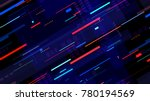 tech seamless texture with neon ... | Shutterstock .eps vector #780194569