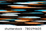 dry brush grunge strokes and... | Shutterstock .eps vector #780194605
