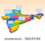 illustration of detailed 3d map ... | Shutterstock .eps vector #780199789