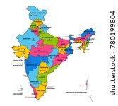 illustration of detailed map of ... | Shutterstock .eps vector #780199804