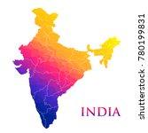 illustration of detailed map of ... | Shutterstock .eps vector #780199831