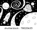 black and white picture with... | Shutterstock .eps vector #78020635