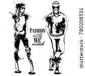 vector woman and man fashion | Shutterstock .eps vector #780208531