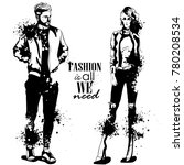 vector woman and man fashion | Shutterstock .eps vector #780208534