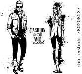 vector woman and man fashion | Shutterstock .eps vector #780208537