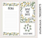wedding lemon template | Shutterstock .eps vector #780208975