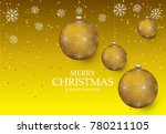christmas light vector... | Shutterstock .eps vector #780211105
