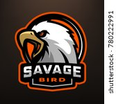 savage bird. eagle sports logo... | Shutterstock .eps vector #780222991