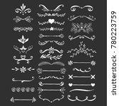 elegant flourish dividers. hand ... | Shutterstock .eps vector #780223759