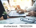 businessman working on desk... | Shutterstock . vector #780231334