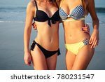 girls in a swimsuit on the... | Shutterstock . vector #780231547