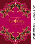 indian wedding invitation card... | Shutterstock .eps vector #780231724