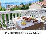 romantic dinner table in... | Shutterstock . vector #780232789