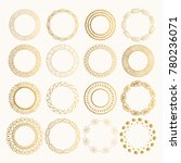 set of rustic golden frames.... | Shutterstock .eps vector #780236071