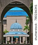 Small photo of September 2017- International Islamic University Malaysia, Gombak: Ablution or wudhu' area in front of Sultan Haji Ahmad Shah Mosque in HDR.