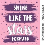 shine like the stars forever... | Shutterstock .eps vector #780248335