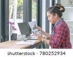 close up businessmen working at ...   Shutterstock . vector #780252934