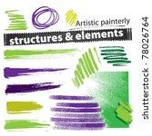 artistic painterly grunge...   Shutterstock .eps vector #78026764