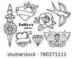 hand drawn traditional tattoos. ... | Shutterstock .eps vector #780271111