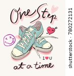 one step at a time slogan with... | Shutterstock .eps vector #780272131