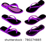 women summer slippers | Shutterstock .eps vector #780274885