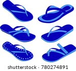 women summer slippers | Shutterstock .eps vector #780274891