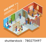 home repair isometric template... | Shutterstock . vector #780275497