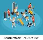 gym isometric template with... | Shutterstock . vector #780275659